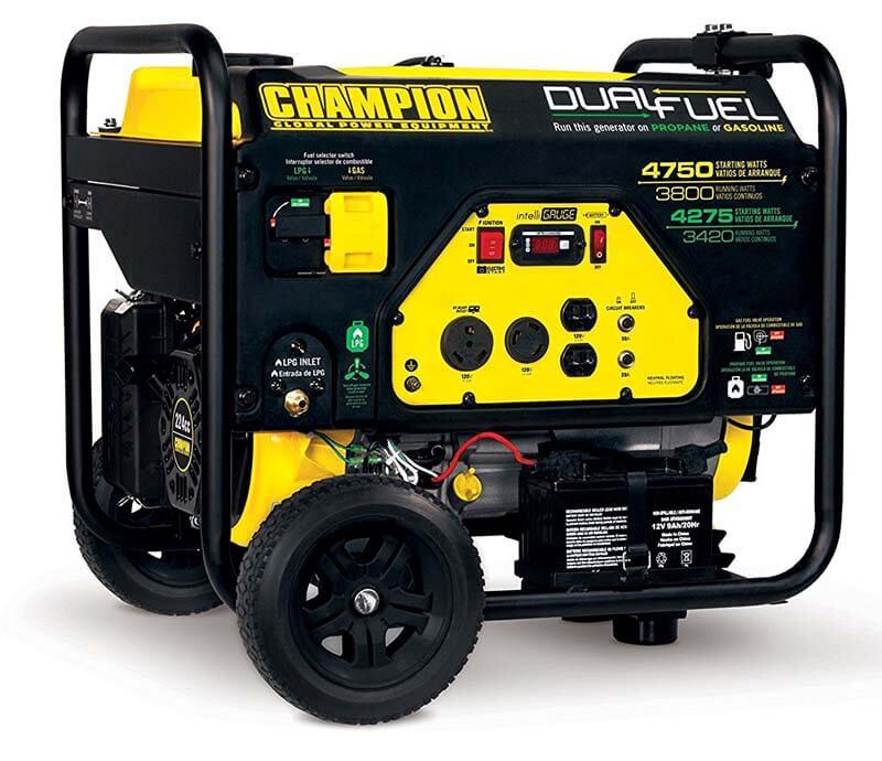 Champion 3800-Watt Generator - Best Low Powered Propane Generator